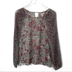 4582df1a76c90e Madewell Red Camden Leather Tote Lucky Brand Floral Chiffon Top  818 ...